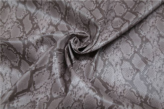 Snake Skin Design Printed PU Leather 0.65mm For Ladies Jacket / Bags