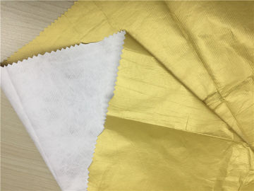 Dupont Paper PU Coated Garment Leather Fabric 0.15mm Matt Gold Color For Thinner Jacket