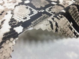 Grey Color Snakeskin Leather Fabric / 0.25mm PU Faux Snakeskin Material